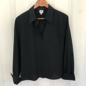 Emanuel Ungaro Liberté Black Button Up Top